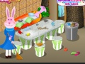 Gioco Lady Bunny's-House Clean Up on-line - giochi online